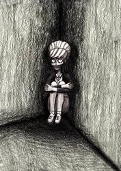Kate Marsh in the dark room. by RicoDZ