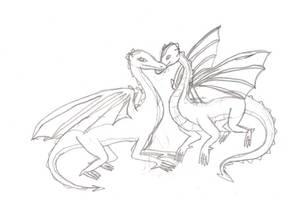 Dragon Kiss by bluerosekatie