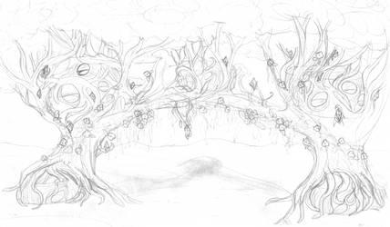 Alluveterre Treehouse sketch by bluerosekatie
