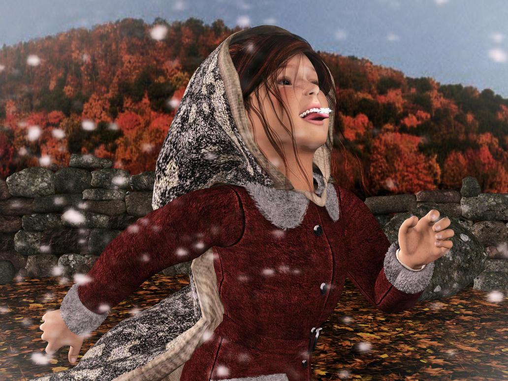 The First Taste of Winter by AMDeLand-Baldwin