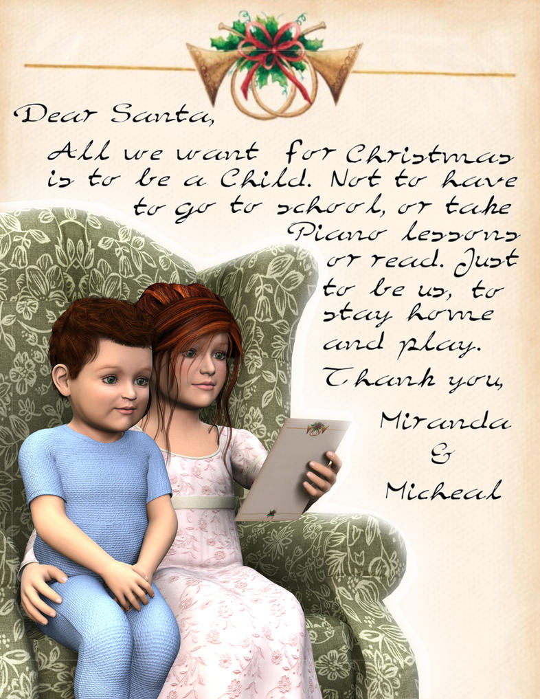 A Letter to Santa by AMDeLand-Baldwin