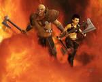 Orc Barbarians by AMDeLand-Baldwin