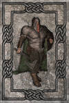 Ironfoot a Cletic Stone Relief by AMDeLand-Baldwin