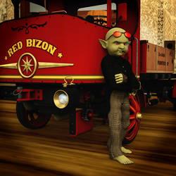 Steampunked Gremlin by AMDeLand-Baldwin