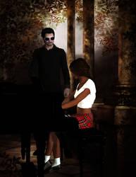 Sarah and Dr. Micheal Morbius by AMDeLand-Baldwin