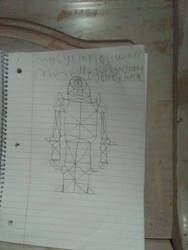 My designed creation of cy the cyborg of cycltopia
