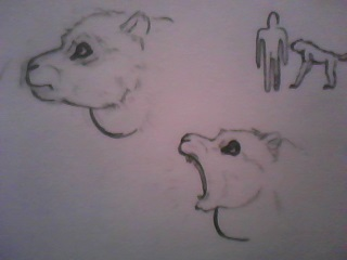 Malgachopithecus agilis sketch by jesusgamarra