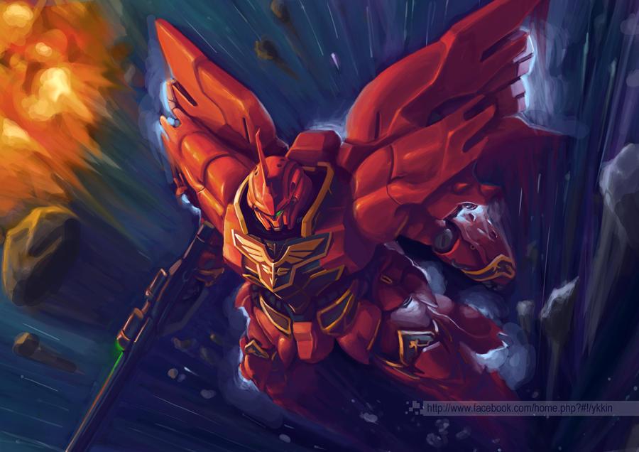 Sinanju in Gundam Unicorn by KwokKinYuen