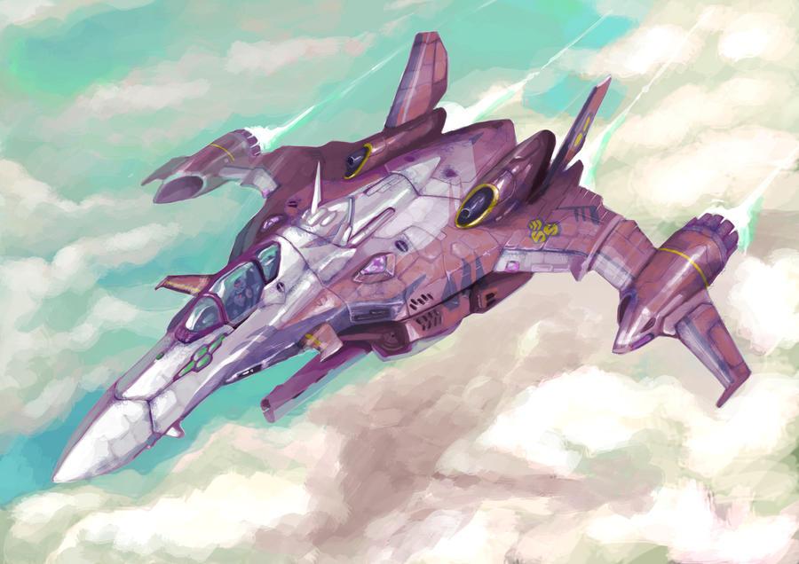 VF-29 @ Macross Frontier by KwokKinYuen
