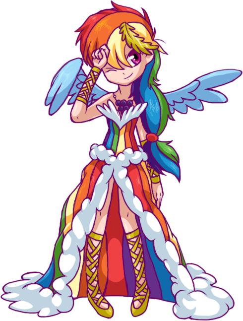 At The Grand Galloping Gala: Dashie by BritishStarr