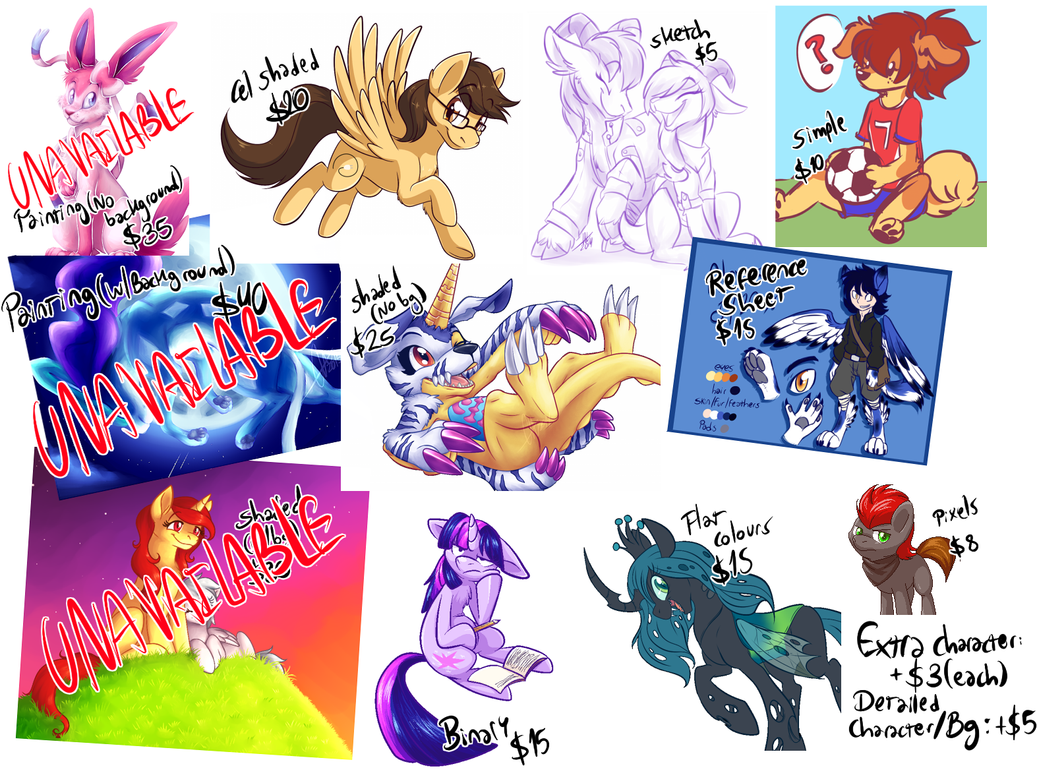 COMMISSION INFO (UPDATED) by BritishStarr