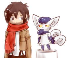 Mikasa-Meowstic by BritishStarr
