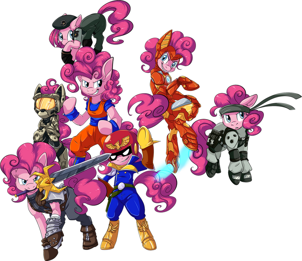 COMMISSION: Pinkiepalooza by BritishStarr