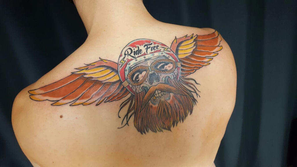 Back tattoo wip by passenger-nq