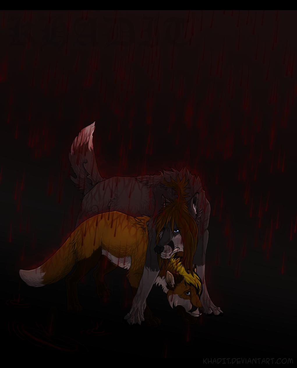 Crimson raindrop by Azenmaru
