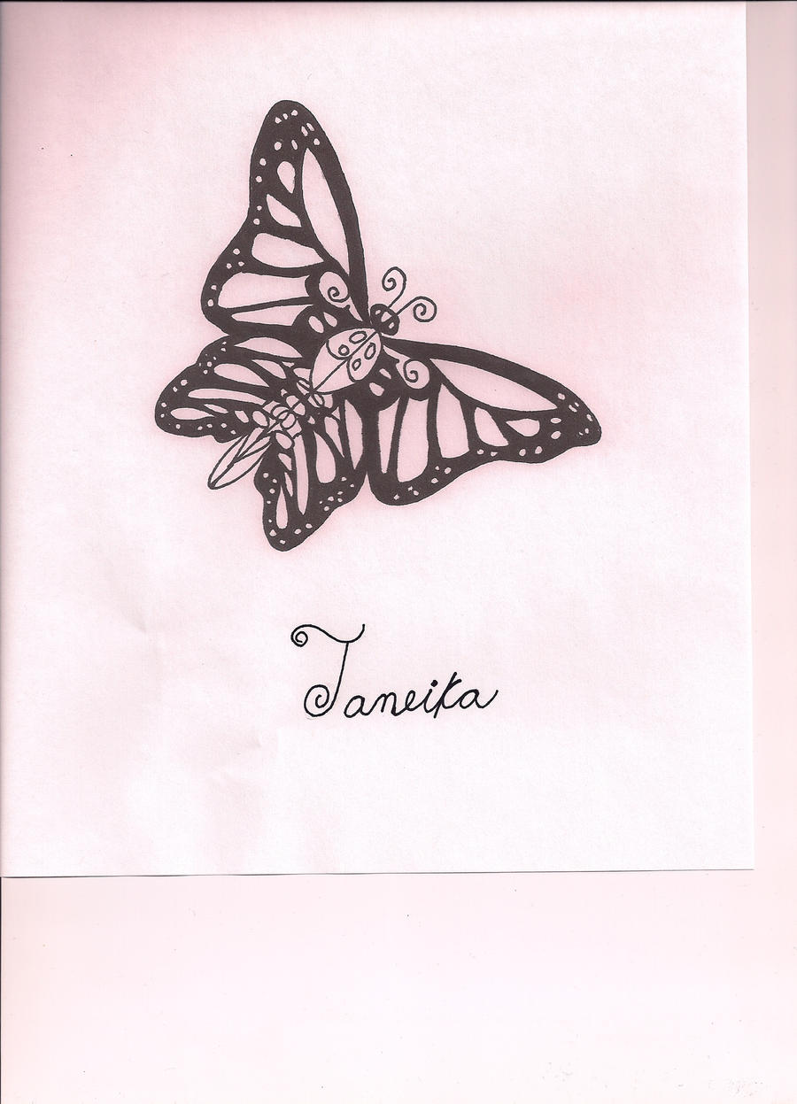 Butterfly Tattoo Cover Up by