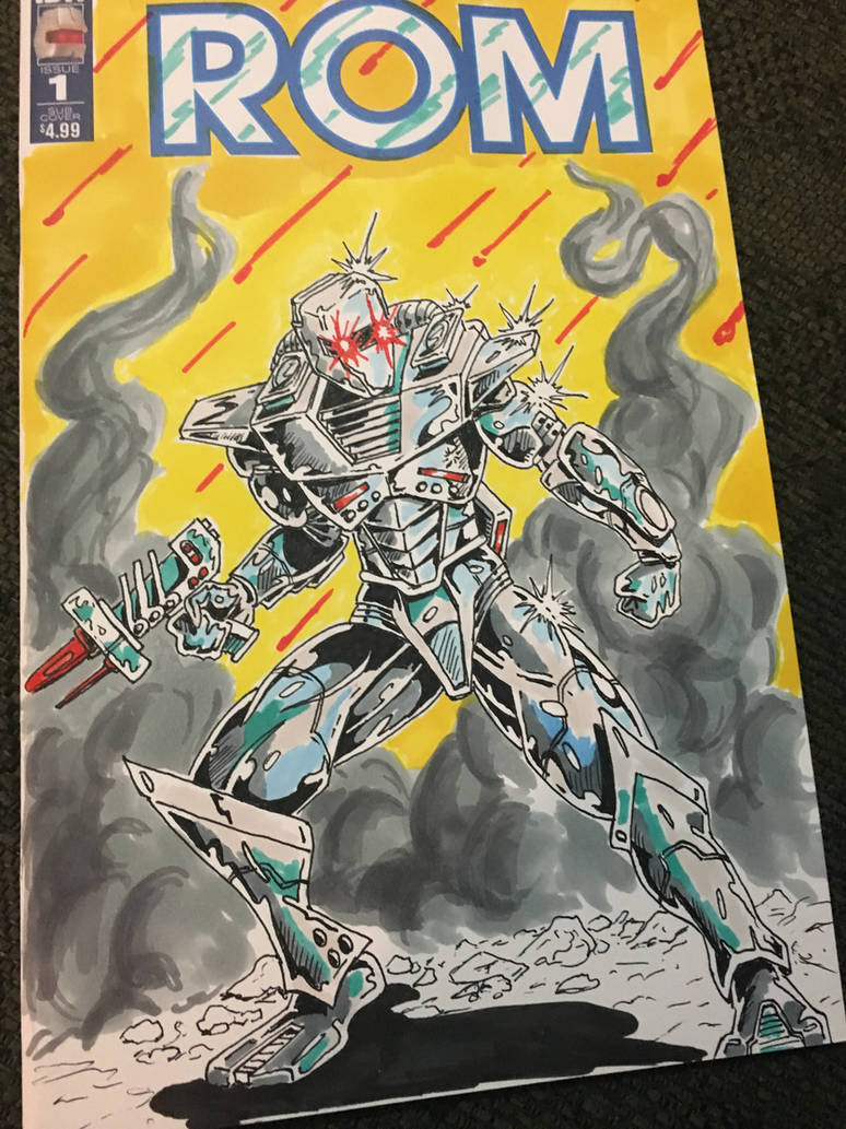 Rom Spaceknight Sketchbook Cover by coyote117