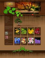 Gardening Shop Webdesign by Tharna