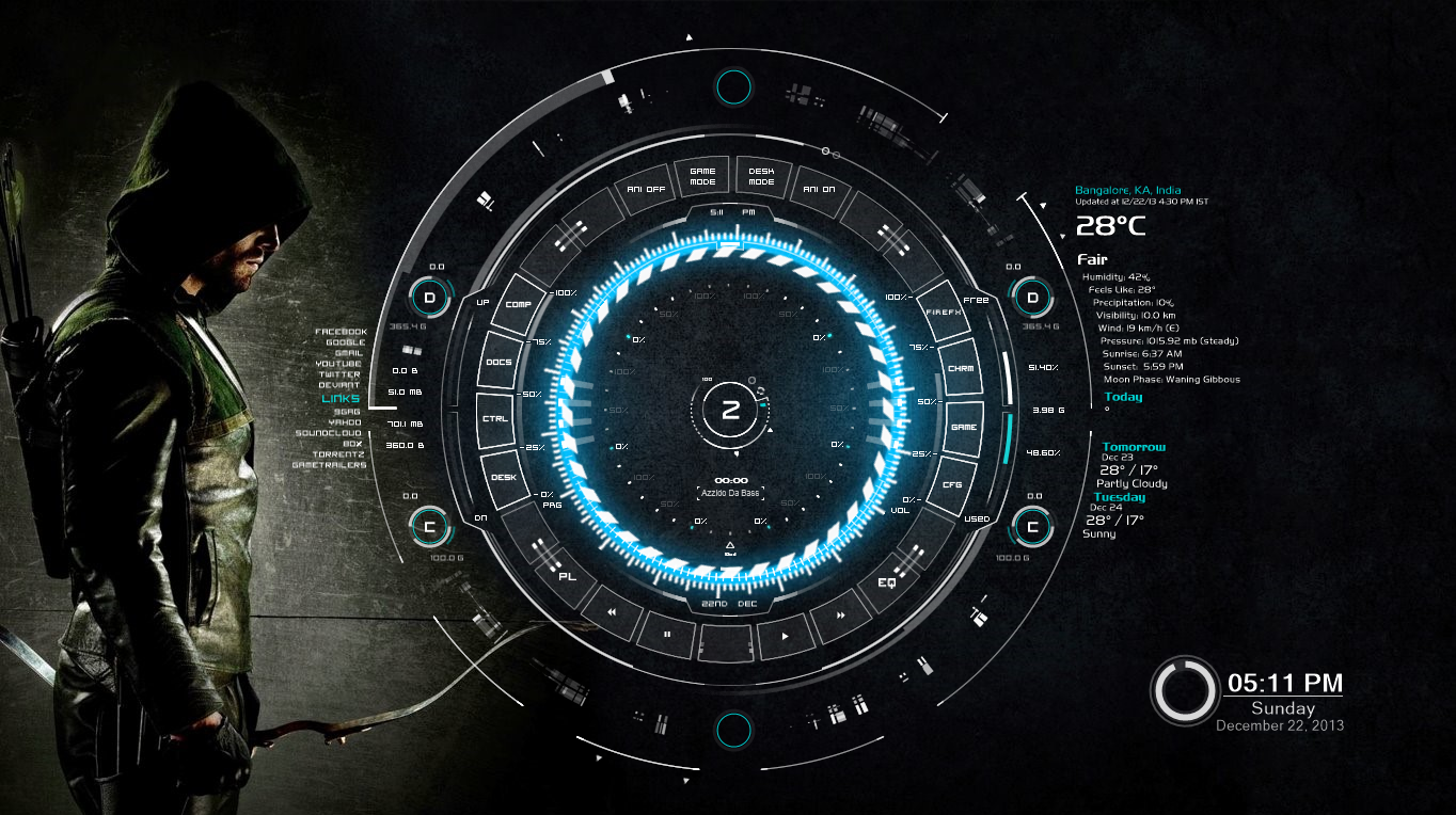 Tech a rainmeter skin with arrow wallpaper by jcdc987 on for Deviantart rainmeter