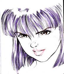 girl face by kenchongo