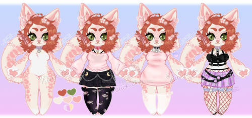 Kitty the Snow Leopard {outfit reference sheet}