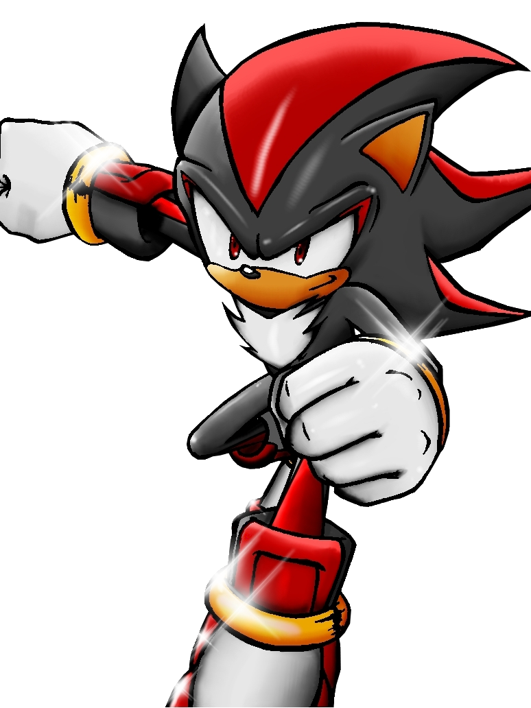 shadow the hedgehog full color by segaxnintendo on deviantart
