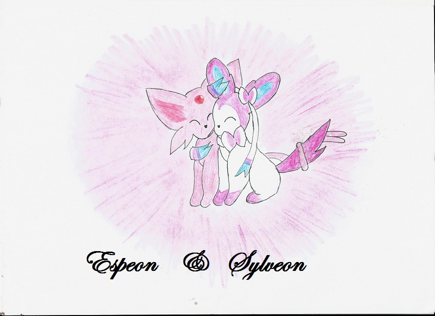 Espeon And Sylveon by Eevee-Princess on DeviantArt