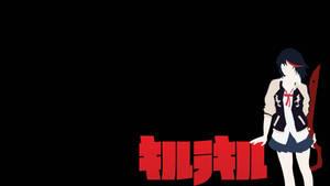 Ryuuko and Logo Wallpaper by TheTokiEffect