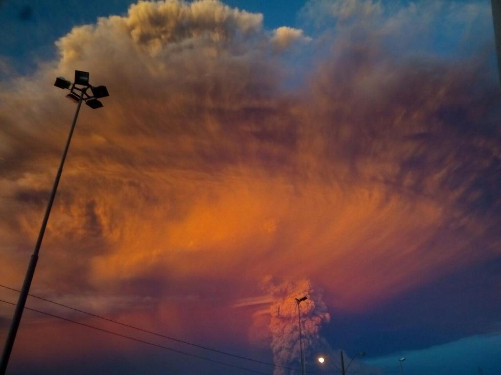 Volcan Calbuco en Pto Montt