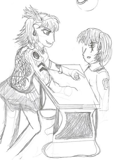 Larosin and 'Mako' by safirediaz