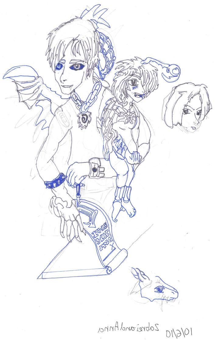 Zabrei and Anna by safirediaz