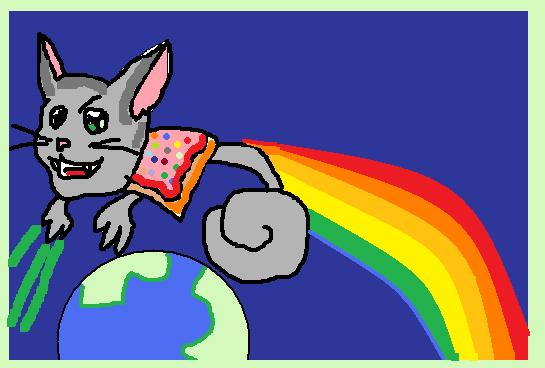 Pop-Tart Cat Conquers... by safirediaz
