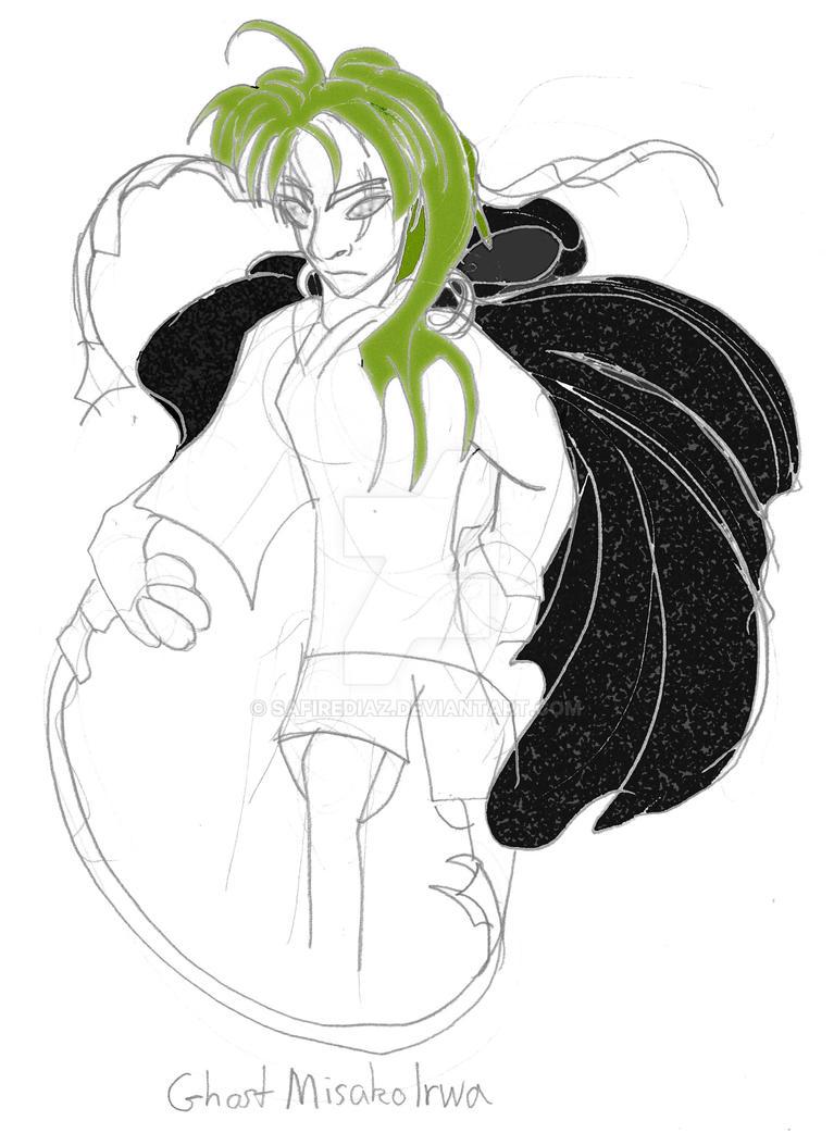Ghost Misako with Cloak by safirediaz