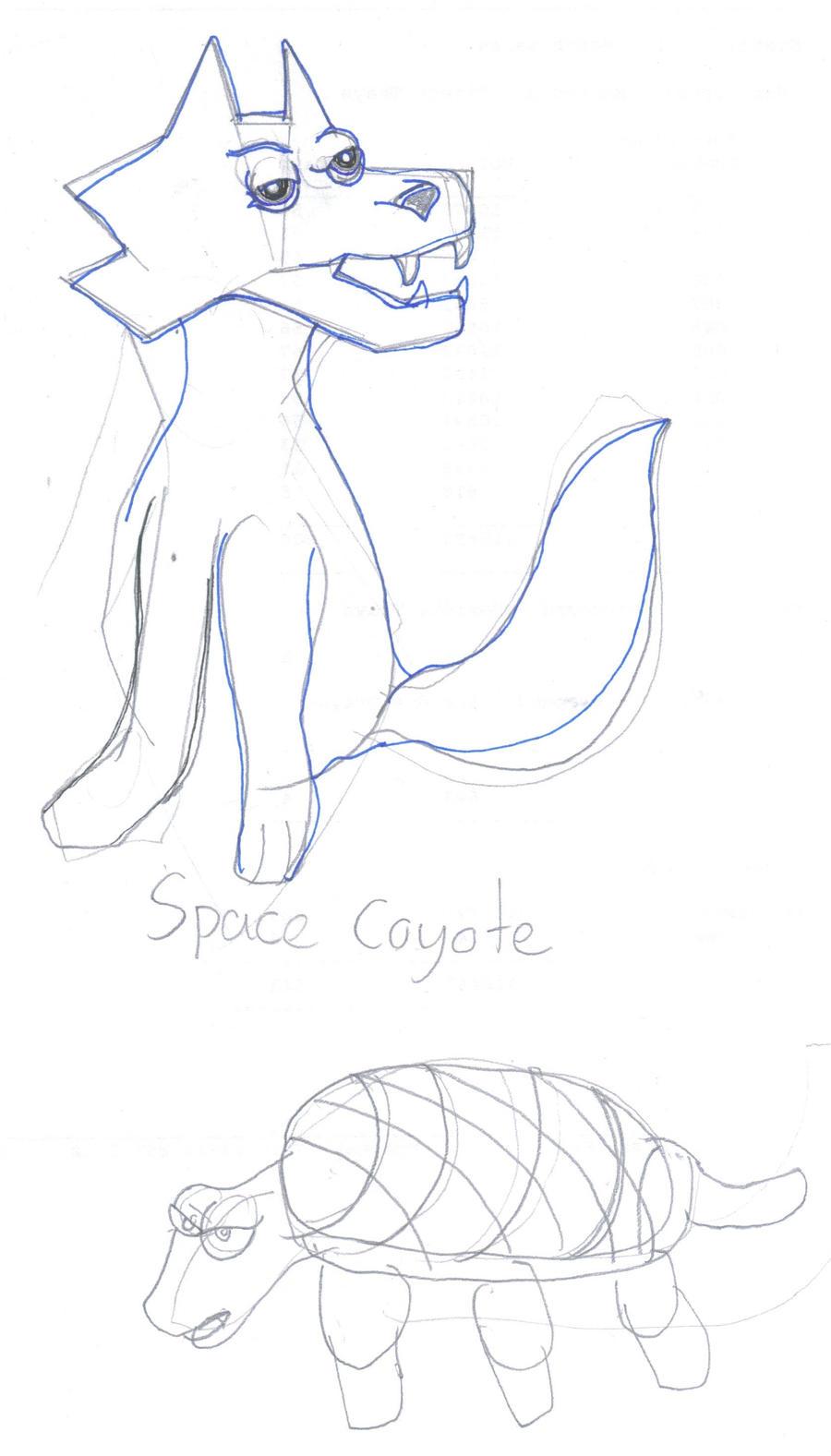 Space Coyote by safirediaz