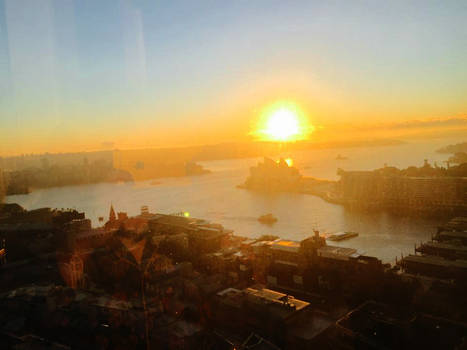 Sunrise over Sydney Harbour