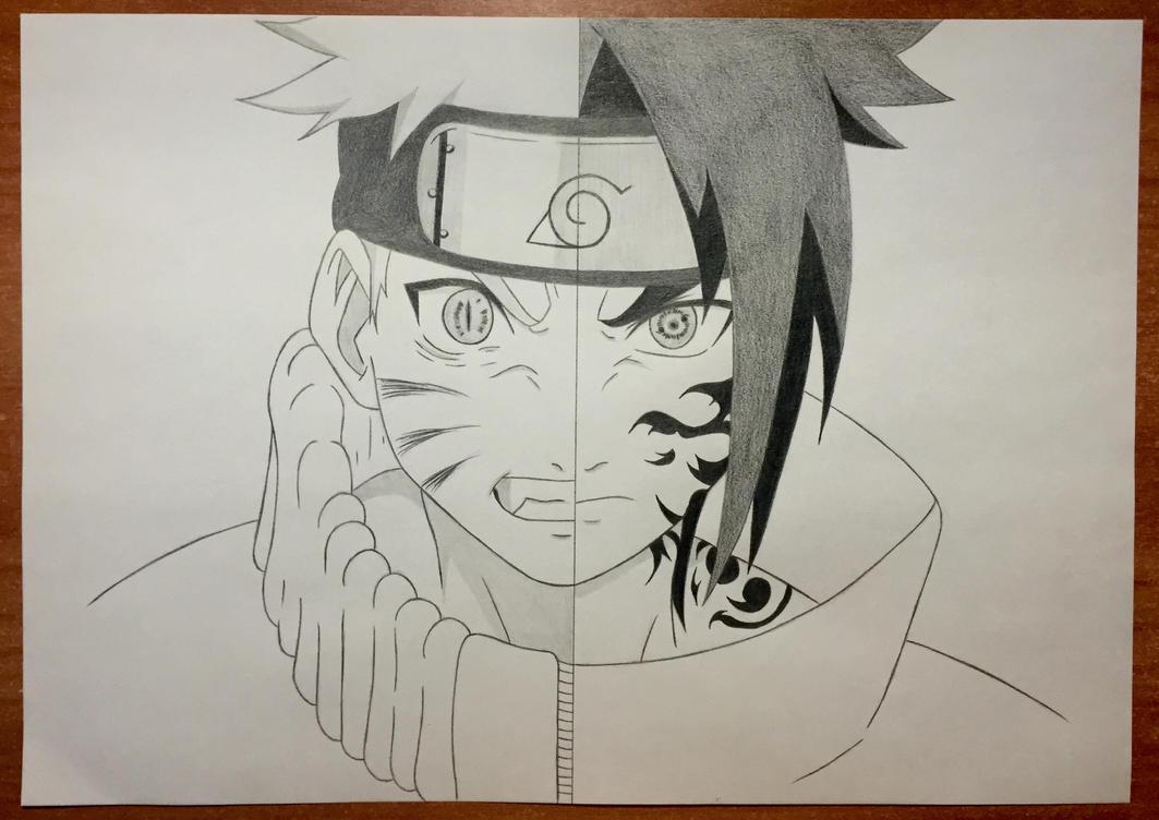 Sasuke Lineart : Naruto vs sasuke after years by ughito on deviantart