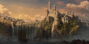 matte painting caslte