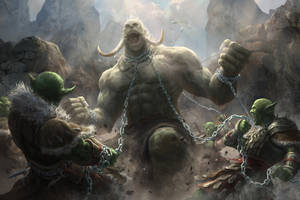 Goblin vs Giant by shenfeic