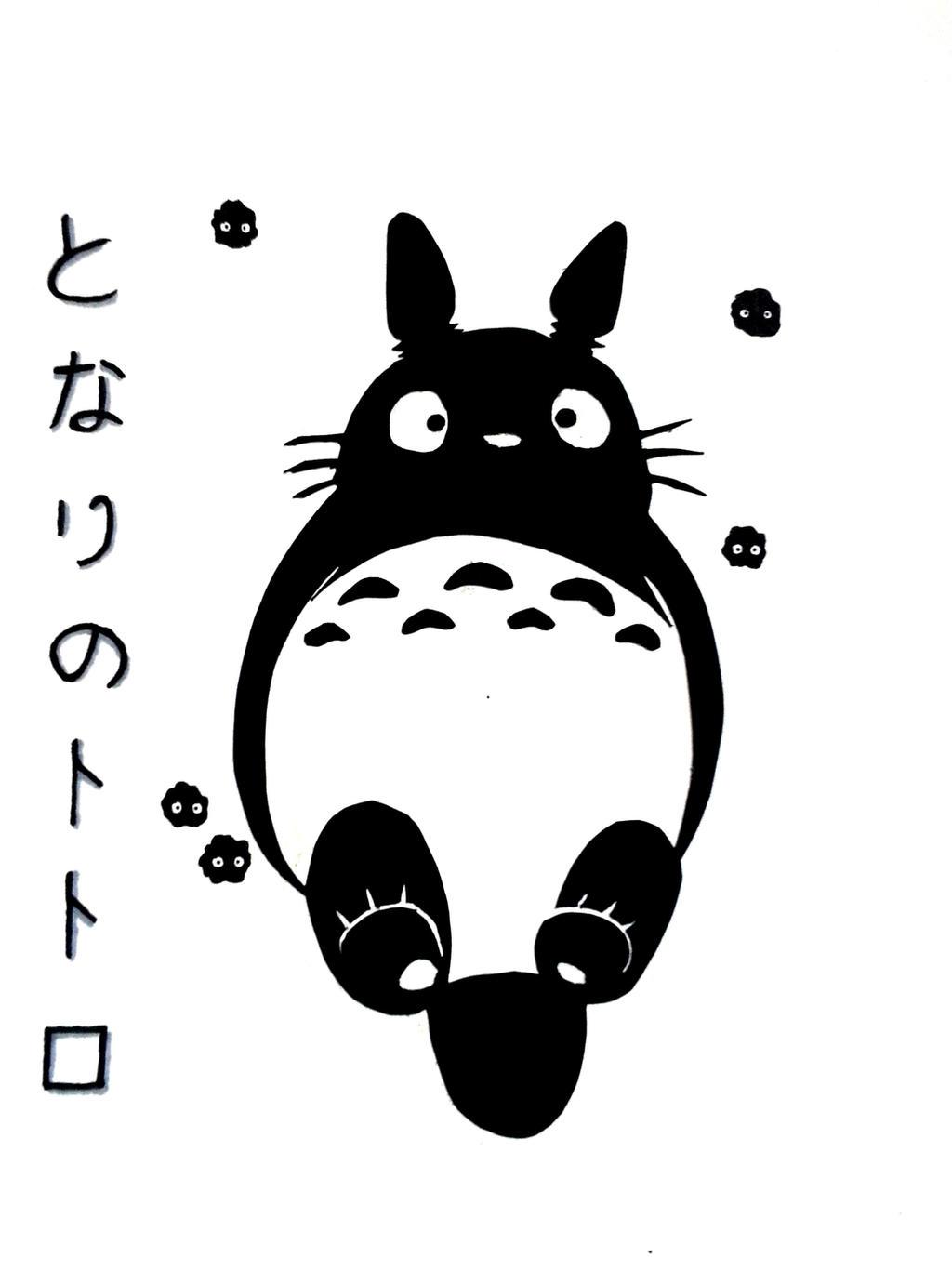 Black And White Totoro Wallpaper | www.imgkid.com - The ...