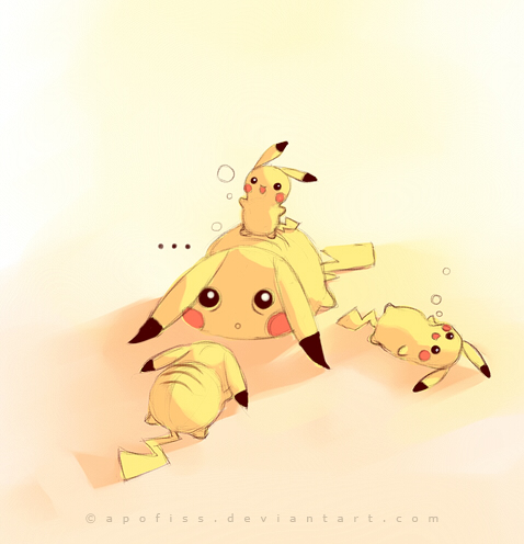 pikachu after party by Apofiss