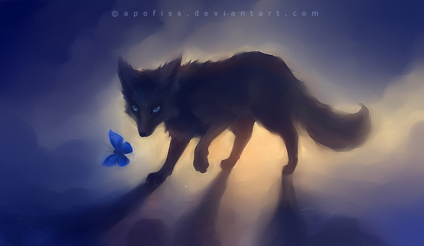black fox by Apofiss