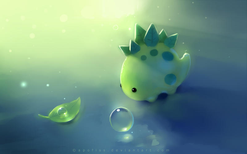 green  Cute wallpapers