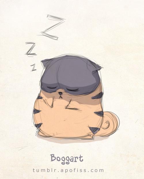 boggart sleepy doodle by Apofiss