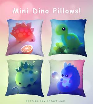 mini dino pillows