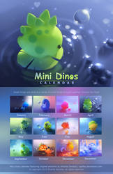 Mini Dinos Calendar by Apofiss