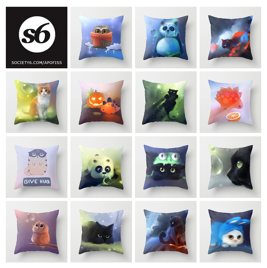 throw pillows by Apofiss
