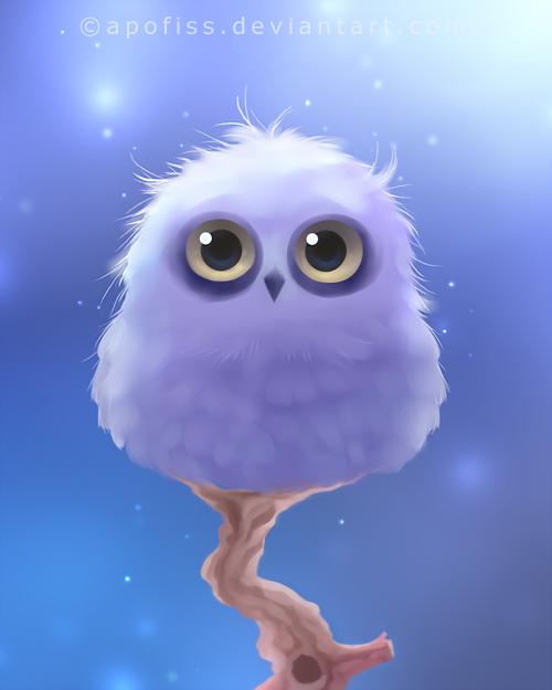 polar owl by Apofiss