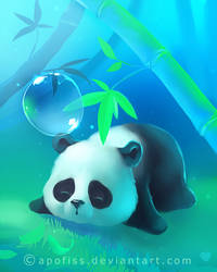 cosy under bamboo by Apofiss