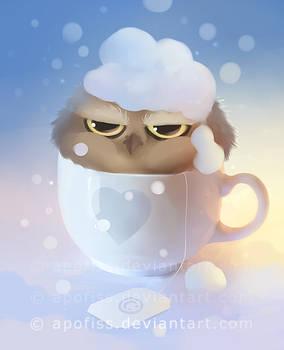 cup of owl ( wallpaper )