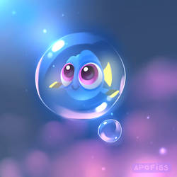 dory in a bubble by Apofiss